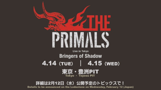 The Primals Konzert Ankündigung